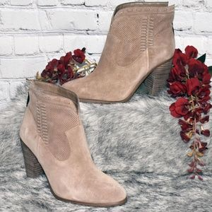 Perforated Suede Ankle Boots - Fretzia (Sz 8M)